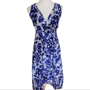Simply Vera Wang Blue Floral Dress Size PXS